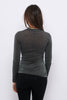 Second Arrival Slim Bluse / Black glitter