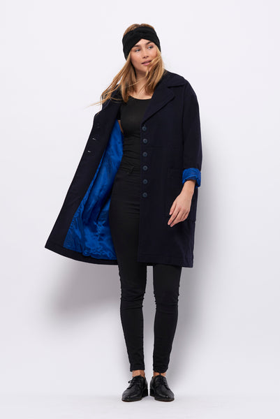 Second Arrival Cross Coat / Navy