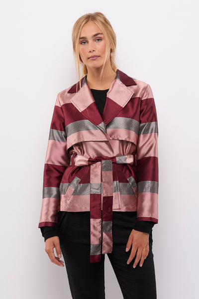 Second Arrival Habit Cardigan / Rose stripes