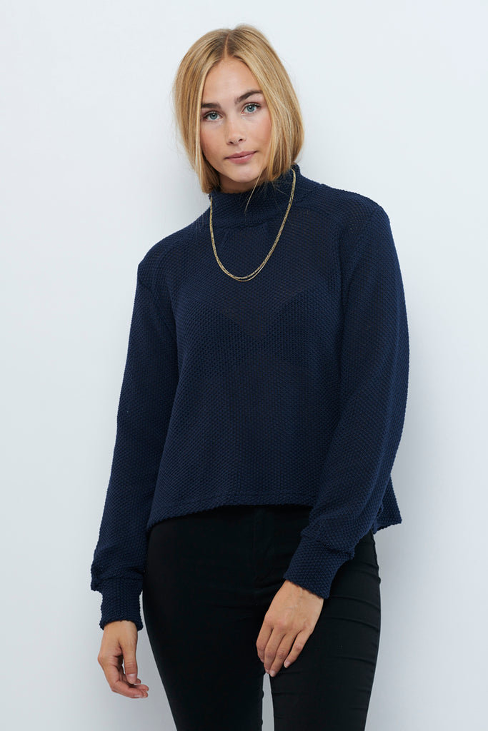 Second Arrival Fleur Sweater / Navy knit