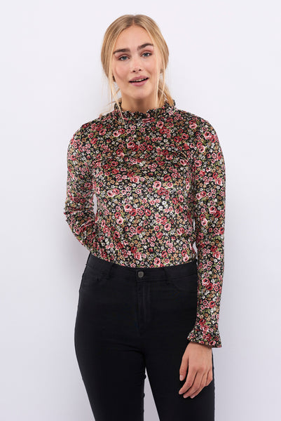Second Arrival Long Blossom Bluse / Flowers velvet