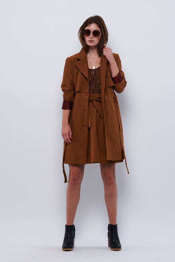 Second Arrival Trenchcoat / Rust