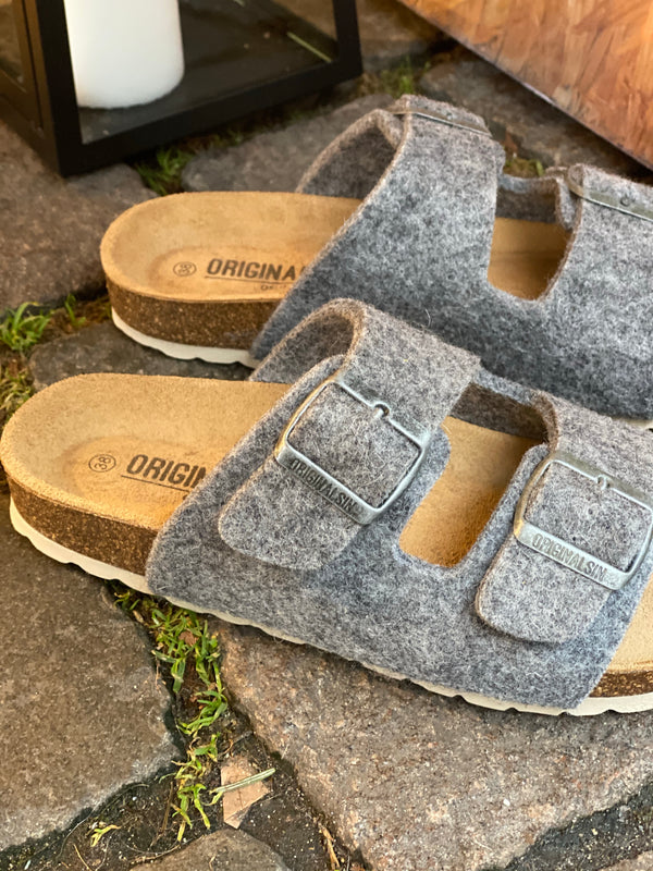 Original Sin Sofie Wool Slipper / Light grey