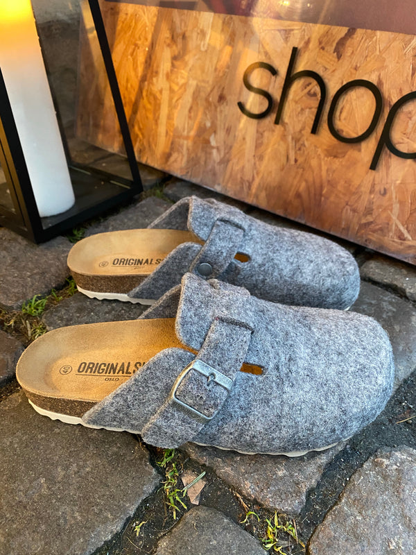 Original Sin Frida Wool Slipper / Light Grey