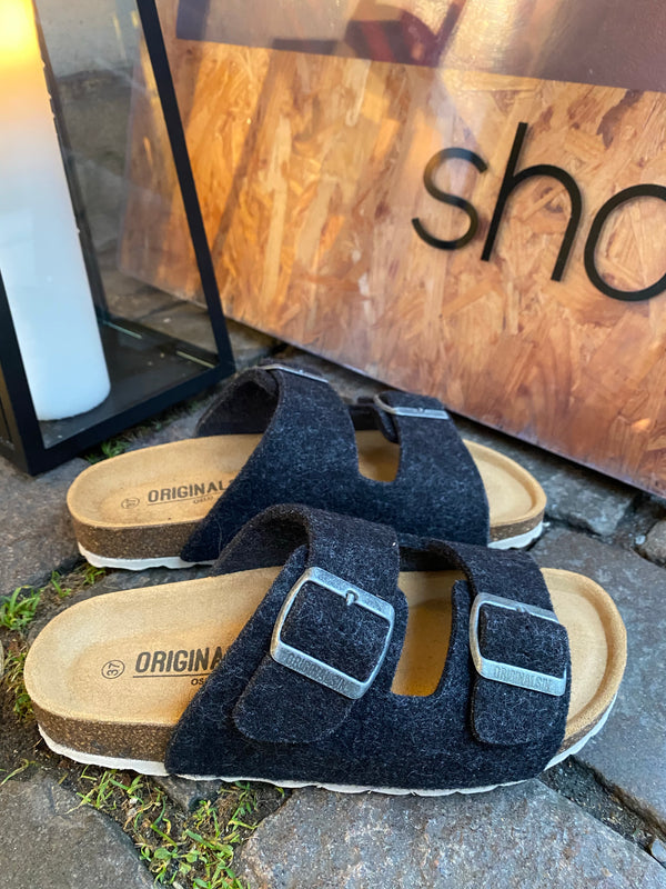 Original Sin Sofie Wool Slipper / Black (darkgrey)