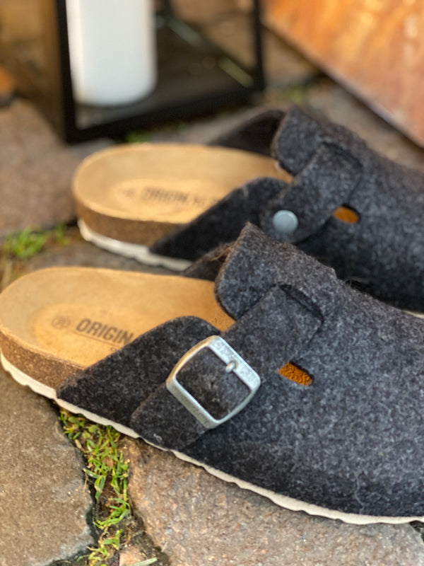 Original Sin Frida Wool Slipper / Black (darkgrey)