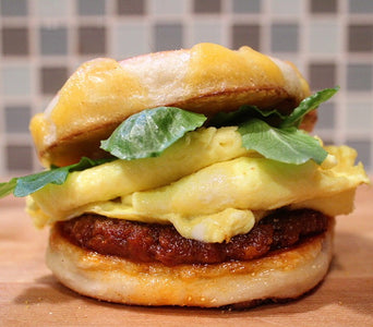 SPICY NDUJA SAUSAGE & TILLAMOOK CHEESE BREAKFAST SANDWICH