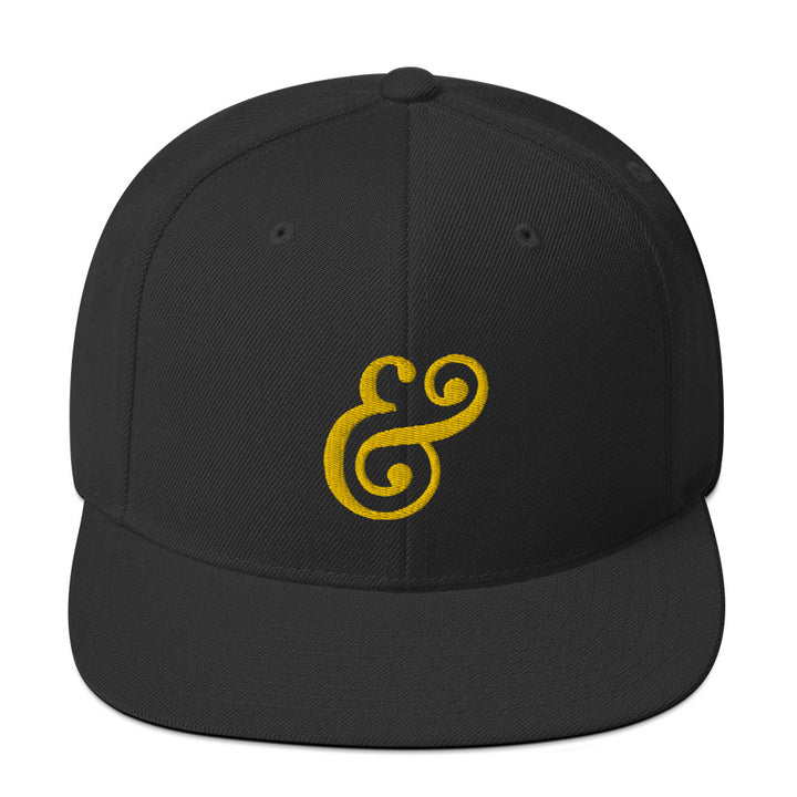 Official Stone & Skillet MUFFINEER Ampersand Snapback (BLACK/GOLD)