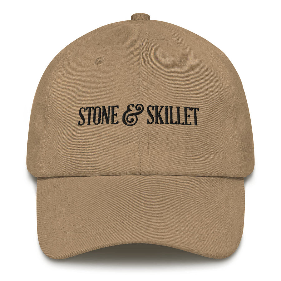 Stone & Skillet Dad Hat, Black Logo (Various Colors)