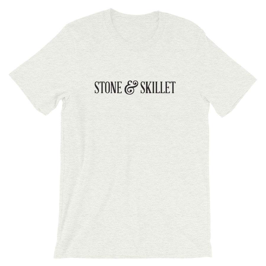 STONE & SKILLET T-SHIRT, Black LOGO (VARIOUS COLORS)