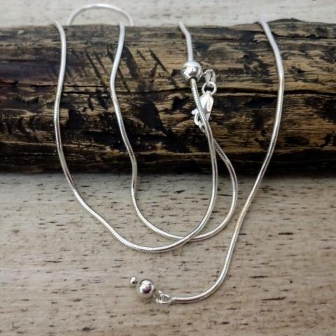 Image of Sliding Adjustable Chain | Sterling Silver Specialty Chain | Womens