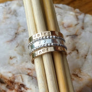 Stackable Rings | Stacking Personalized Custom Name & Accent Rings
