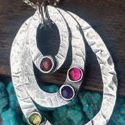 Birthstone Necklace | Layering Oval Eternity Necklace | Mother Jewelry - Ella Joli