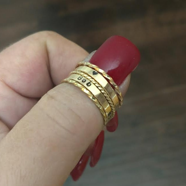 Stackable Personalized Rings | Mix and Match | Create your own set