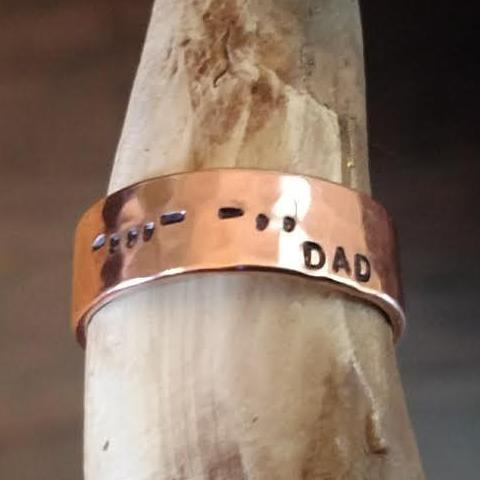 Men's Personalized Copper Ring