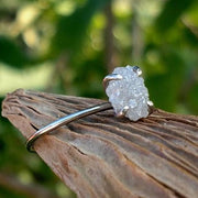 Raw Rough Solitaire Diamond Engagment Ring - Ella Joli