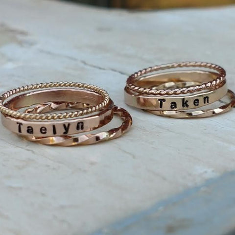 *Design Your Own Dainty Personalized Stackable Ring Set