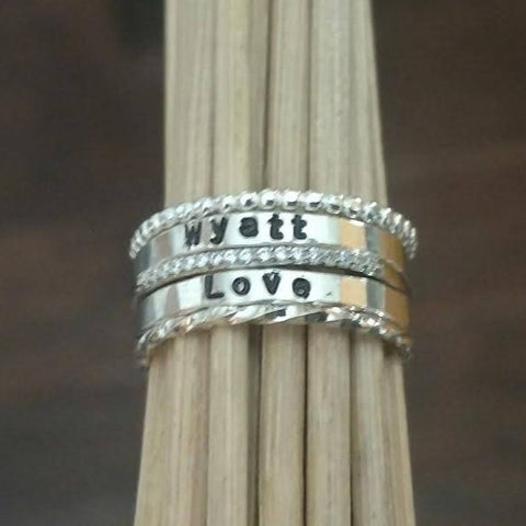 Image of Stackable Personalized Rings | Mix and Match | Create your own set