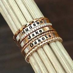 Image of *Design Your Own Dainty Personalized Stackable Ring Set