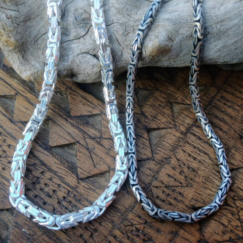 Byzantine Chain | Heavy Sterling Silver Chain Necklace | Specialty Luxury Chain