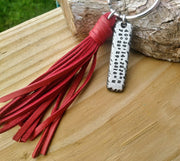 Personalized Keychain with Optional Leather Tassel