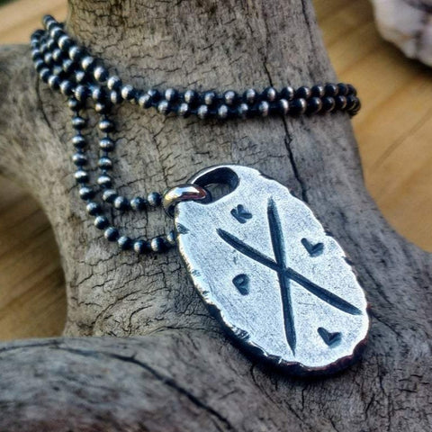 Mens Initial Necklace | Custom Silver Pendant | Personalized Jewelry - Ella Joli