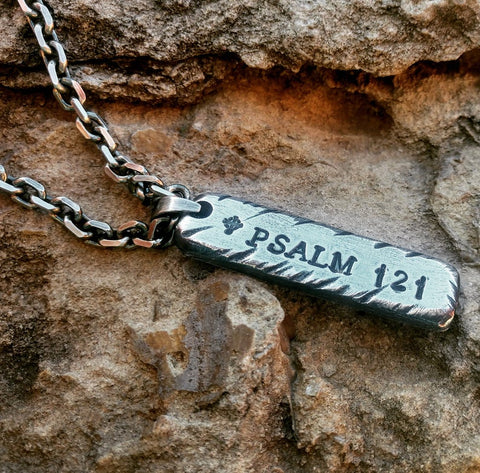 Mens Personalized Bar Necklace | Sterling Silver Bar Necklace | Custom