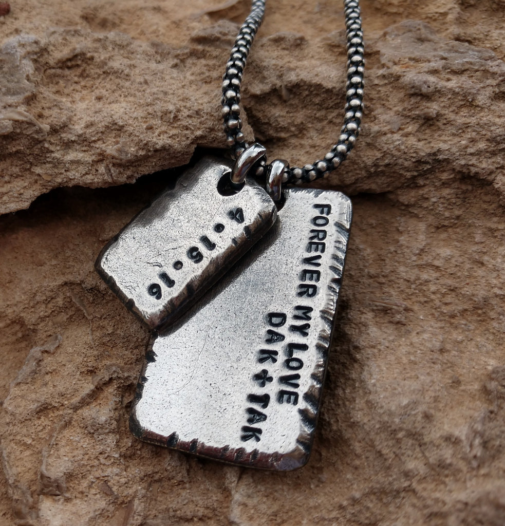 Men's Personalized Dog Tag Necklace