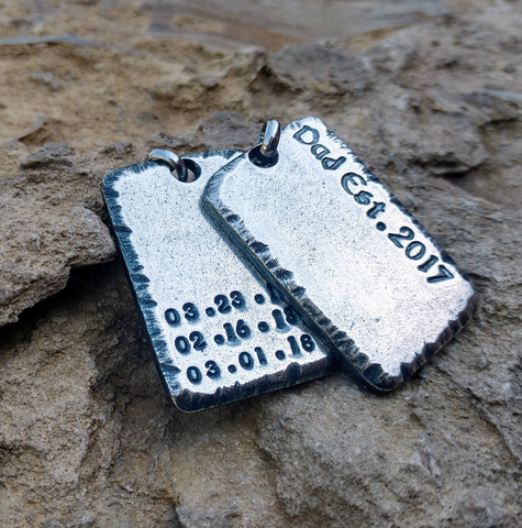 Men's Personalized Dog Tag Necklace | Sterling Silver | Mens Jewelry