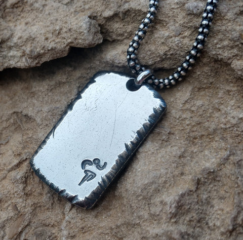 Image of Men's Personalized Dog Tag Necklace | Sterling Silver | Mens Jewelry