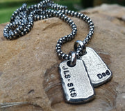 Men's Personalized Necklace | Sterling Silver Dog Tag | Mens Jewelry - Ella Joli