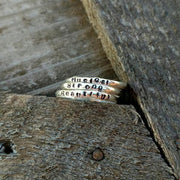 Personalized Stacking Ring | Sterling Silver Name Rings - Ella Joli