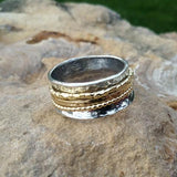Gold and Silver Meditation Spinner Ring