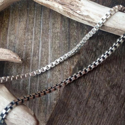 Mens Heavy Box Chain | Sterling Silver Chain Necklace | 2.5mm - Ella Joli