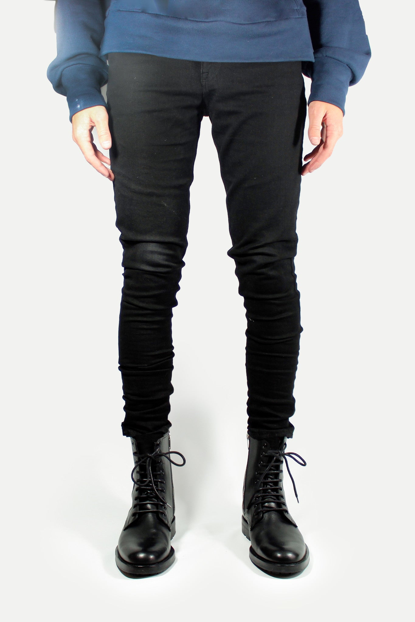 Tapered Black Denim