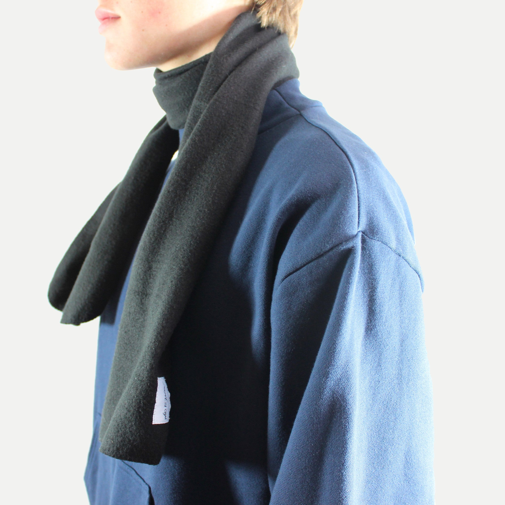 Black Fleece Scarf