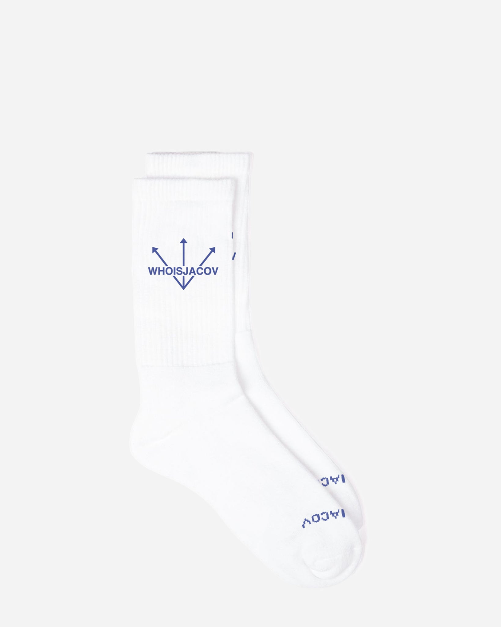 WHITE LOGO SOCK