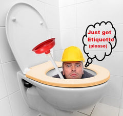 etiquette flushable wipe won't clog pipes