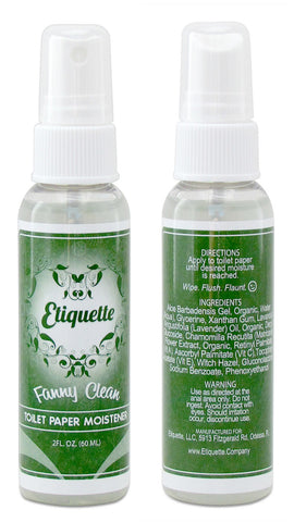 Etiquette Toilet Paper Moistener [Pack of Three - 2.0 oz] - Etiquette - 2