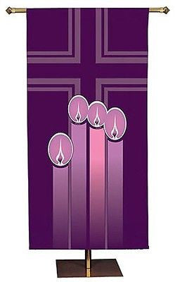 Advent Candles Church Banner