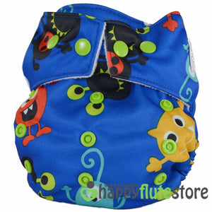 Happy Flute Heavy Wetter Cloth Diaper- Aliens