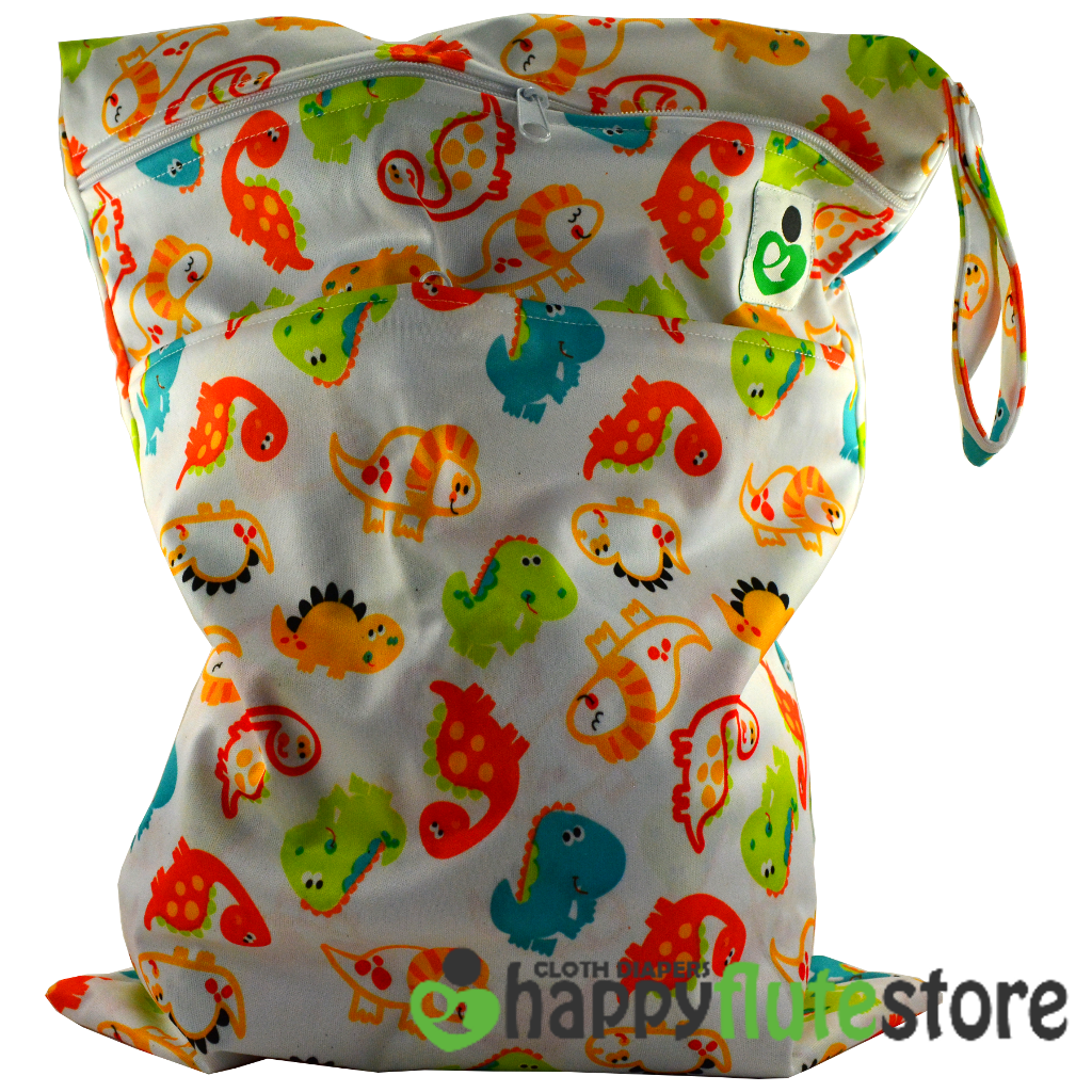 Happy Flute On The Go Wetbag- Baby Dinos