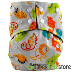 Happy Flute Pocket Cloth Diaper - Baby Dinos