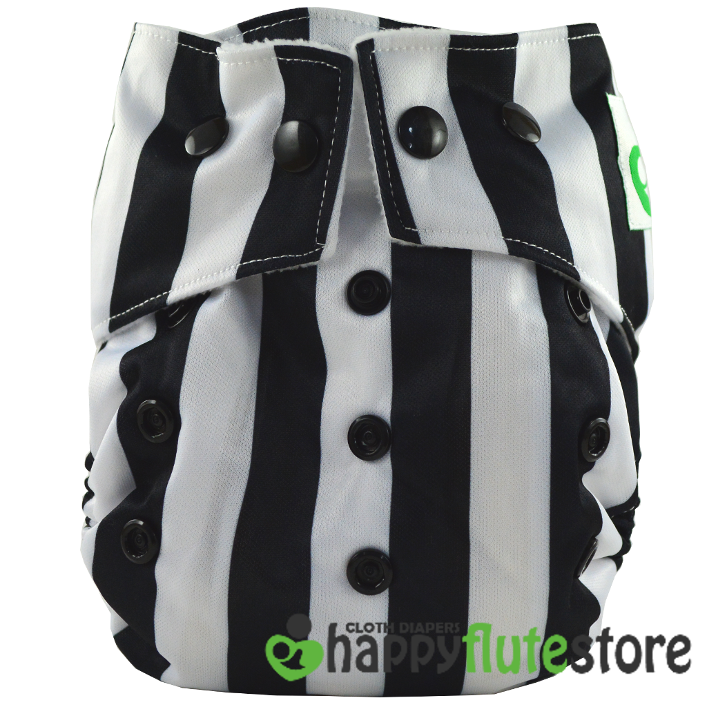Happy Flute Heavy Wetter Cloth Diaper - Beetlejuice