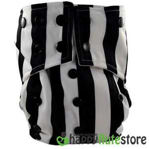 Happy Flute All in One Charcoal Bamboo Cloth Diaper - Beetlejuice