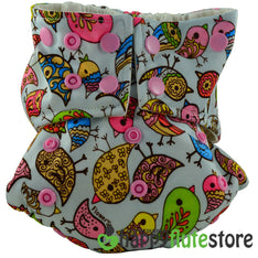 Happy Flute Pocket Cloth Diaper - Birds