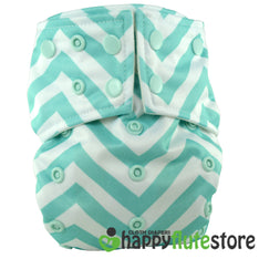Happy Flute Pocket Cloth Diaper - Blue Chevron