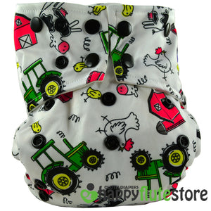 Happy Flute Pocket Cloth Diaper - Farm