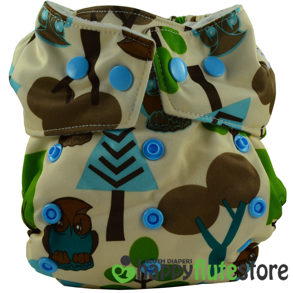 Happy Flute Heavy Wetter Cloth Diaper - Forest Friends