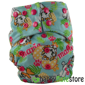 Happy Flute All in One Charcoal Bamboo Cloth Diaper - Kittens